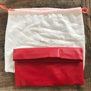 Brand new India Hicks cherry red Carmen clutch
